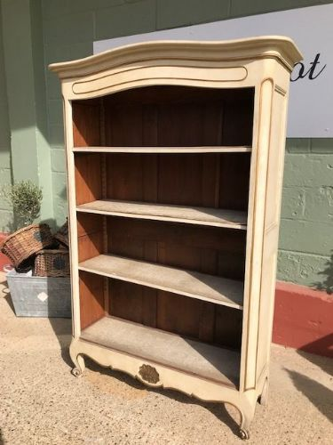 Antique French Bookcase - Display Cabinet - c6